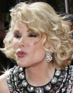 """I've had so much plastic surgery, when I die they will donate my body to Tupperware.""  Joan Rivers"