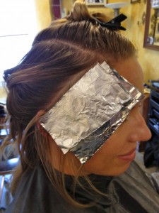 With foils only , the demarcation of color is much more defined.